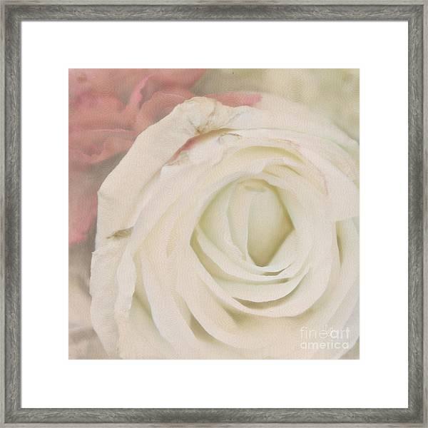 Dressed In White Satin Framed Print