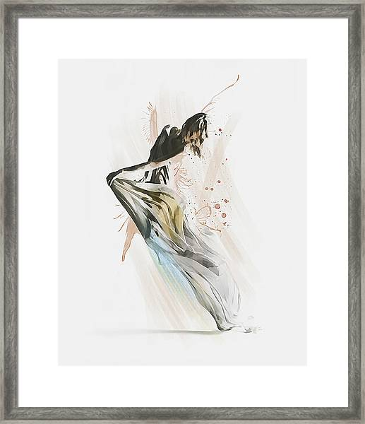 Drift Contemporary Dance Framed Print