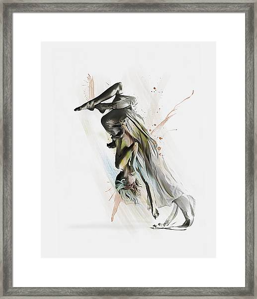 Drift Contemporary Dance Two Framed Print
