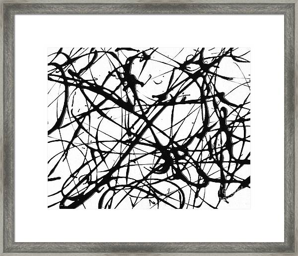 Drip Painting No. Framed Print