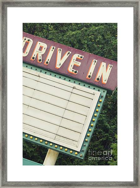 Drive In I Framed Print