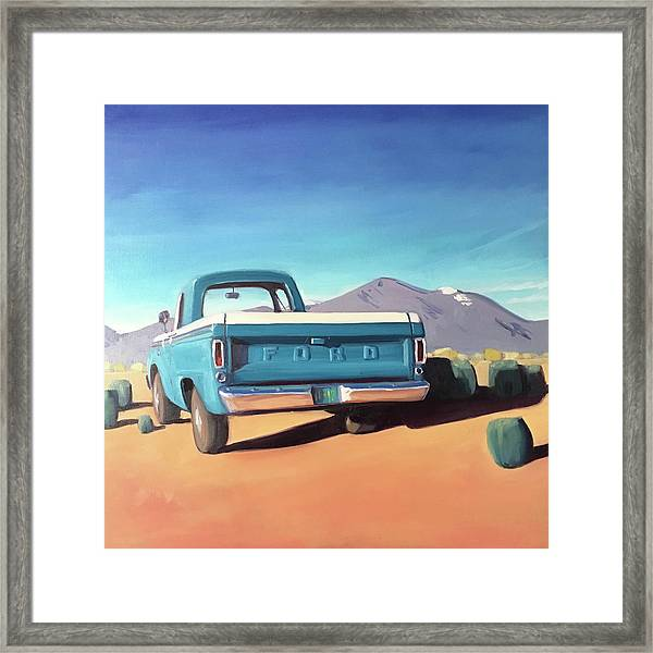 Drive Through The Sagebrush Framed Print