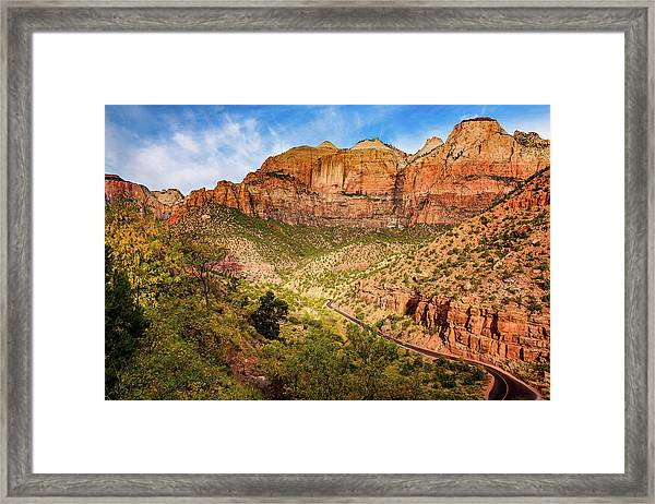 Driving Into Zion Framed Print