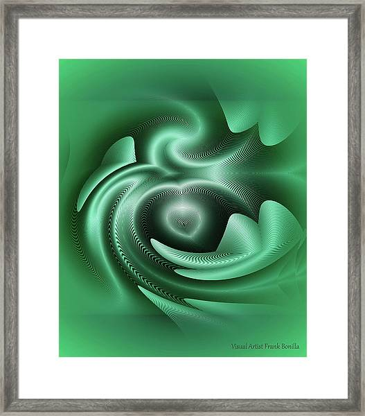 Framed Print featuring the digital art Drone by Visual Artist Frank Bonilla