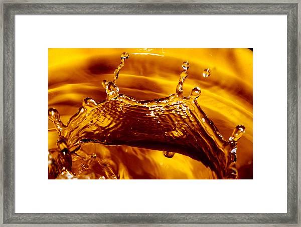 Drop Of Gold Framed Print