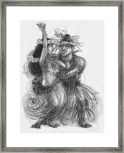 Drum Dance Pas-de-deux Framed Print