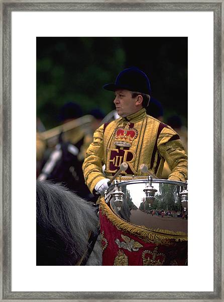 Drum Horse At Trooping The Colour Framed Print