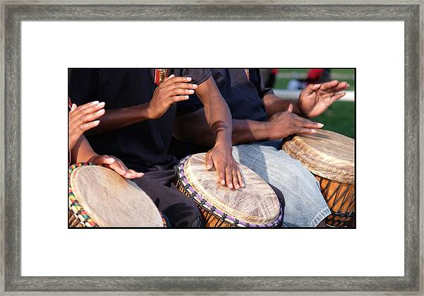 Drum Rhythm Framed Print