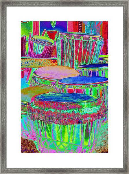 Drums Of Change Framed Print