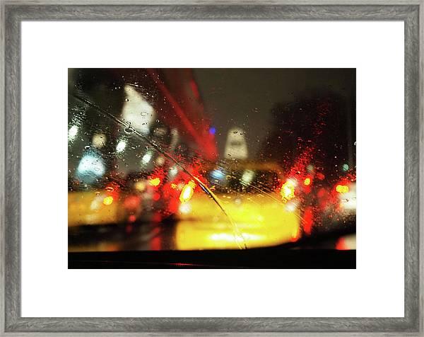 Drunk Cap Ride Framed Print