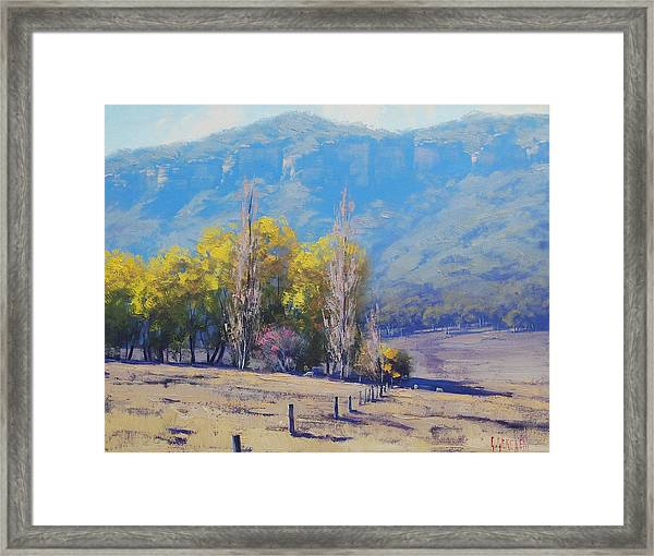 Dry Autumn  Framed Print