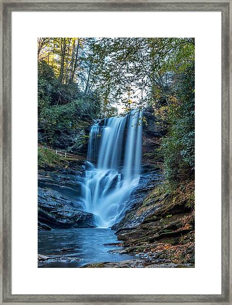 Dry Falls From The Base Framed Print