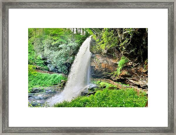 Dry Falls Highlands North Carolina 2 Framed Print