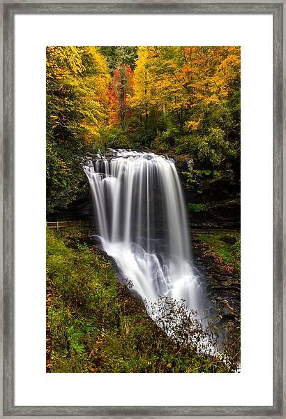 Dry Falls In October  Framed Print