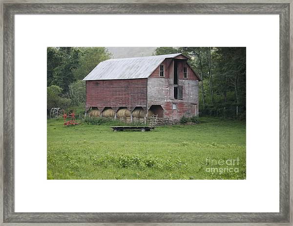 Dry Fork Red Framed Print