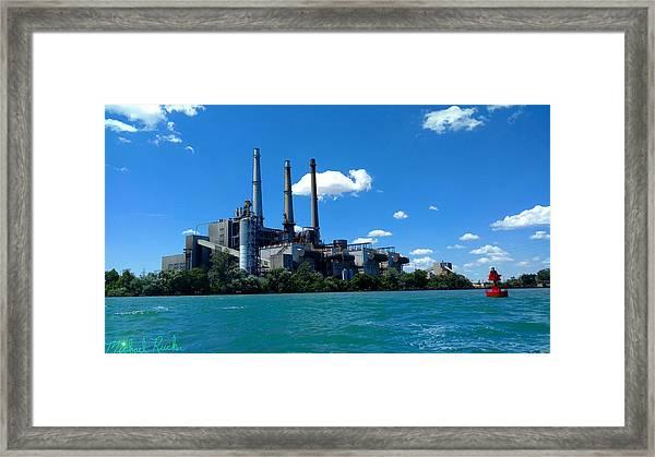 Dte River Rouge Power Plant Framed Print