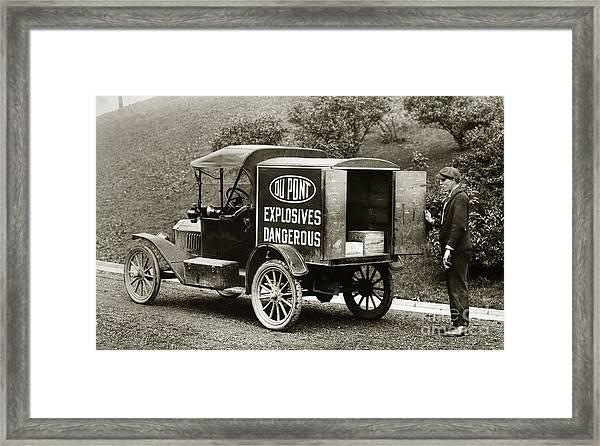 Du Pont Co. Explosives Truck Pennsylvania Coal Fields 1916 Framed Print