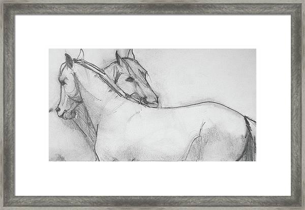 Dual Massage Sketch Framed Print