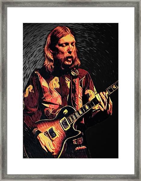 Duane Allman Framed Print