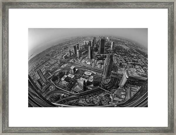 Dubai At The Top Framed Print