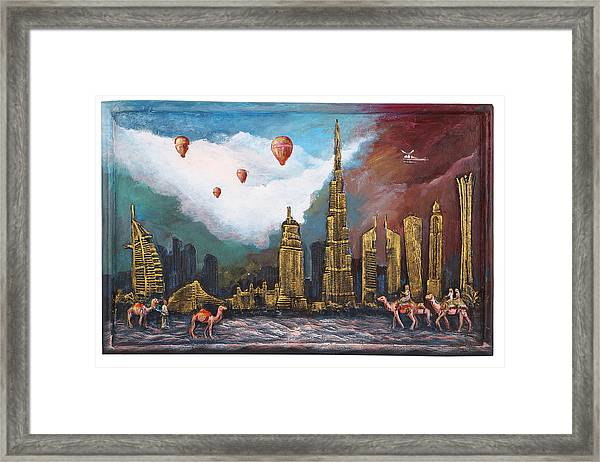 Dubai-city Of Gold Framed Print