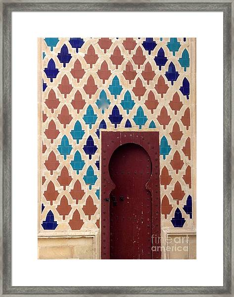 Framed Print featuring the photograph Dubai Doorway by Barbara Von Pagel