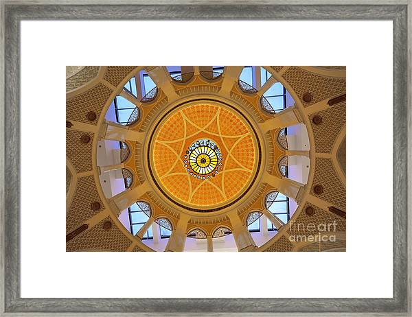 Framed Print featuring the photograph Dubai Mall Dome  by Juergen Held