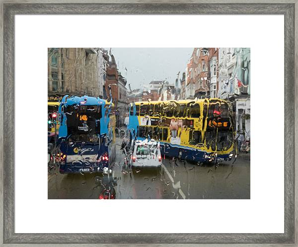 Dublin In The Rain 1 Framed Print