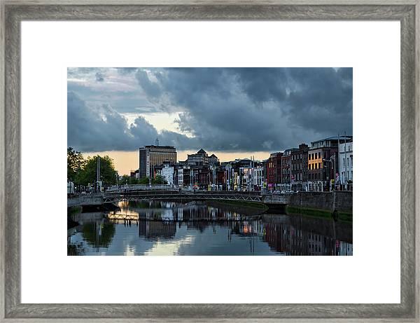 Dublin Sky At Sunset Framed Print