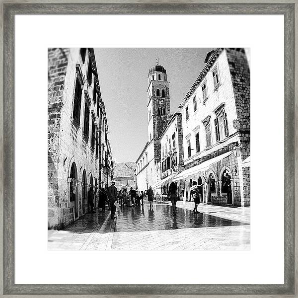 #dubrovnik #b&w #edit Framed Print by Alan Khalfin