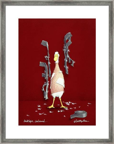 Duck Tape Unbound Framed Print