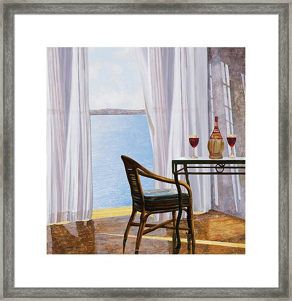 Due Rossi Al Mare Framed Print