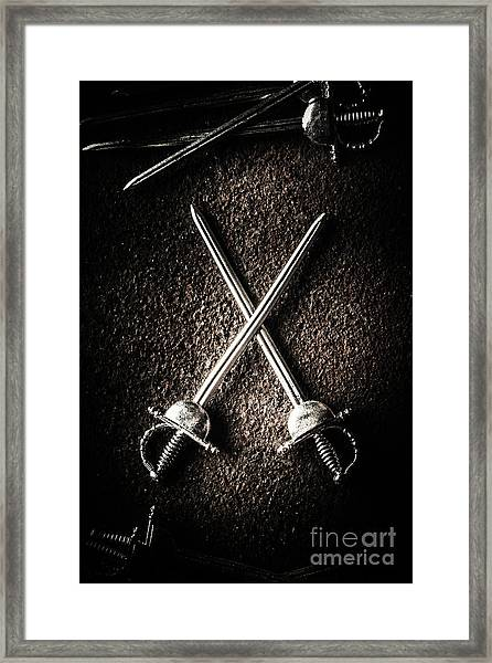 Duel To The Death Framed Print