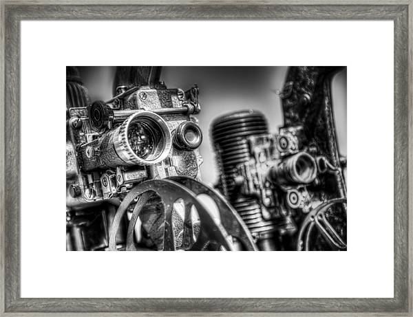 Dueling Projectors Framed Print