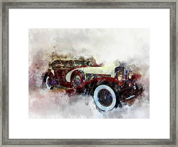 Duesenberg Watercolor Framed Print
