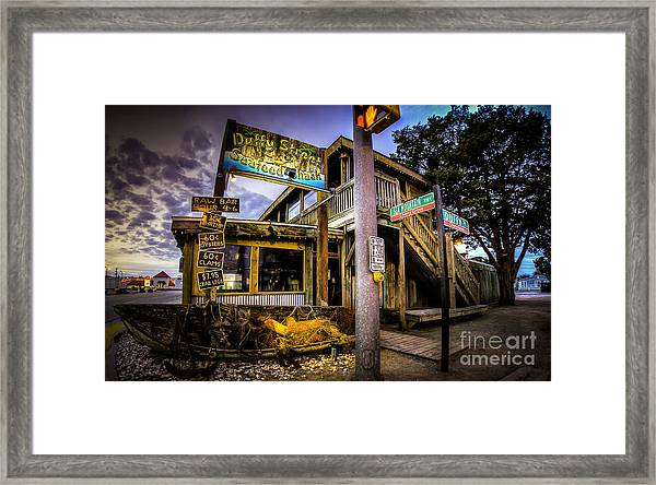 Duffy Street Seafood Shack Framed Print