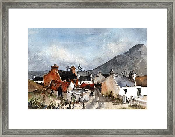 F 701  Dugort Clachan Achill Mayo Framed Print