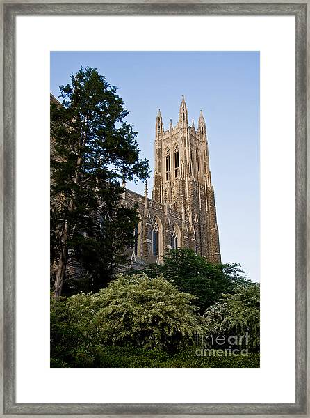 Duke Chapel Side View Framed Print