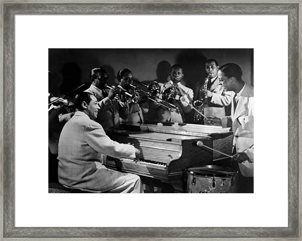 Duke Ellington And His Famous Orchestra Framed Print
