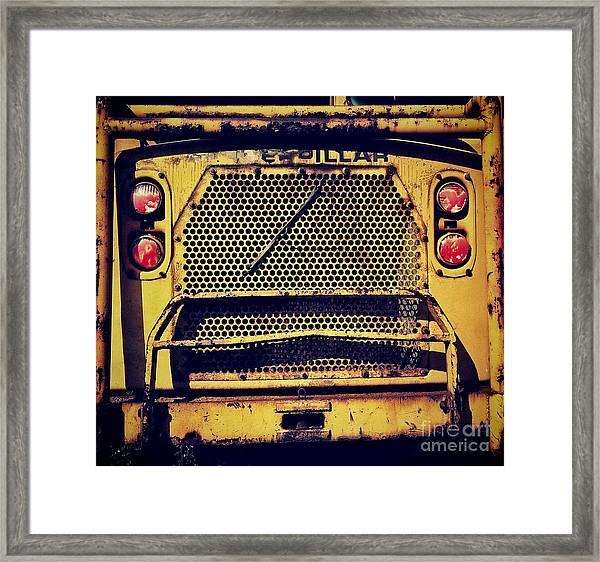 Dump Truck Grille Framed Print