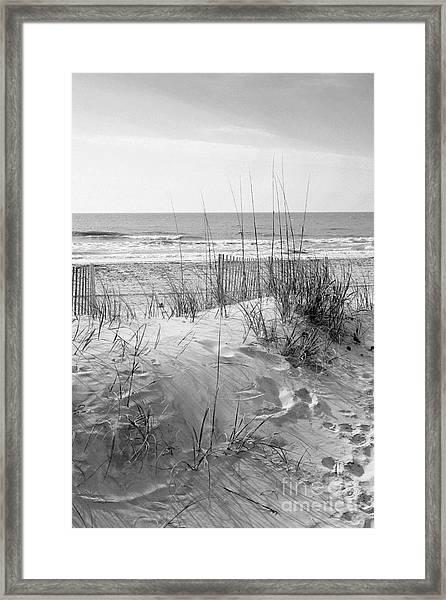 Dune - Black And White Framed Print