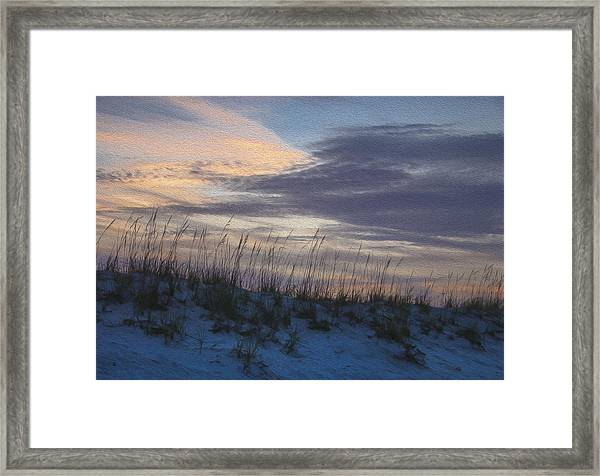 Dune Grass Blue Framed Print