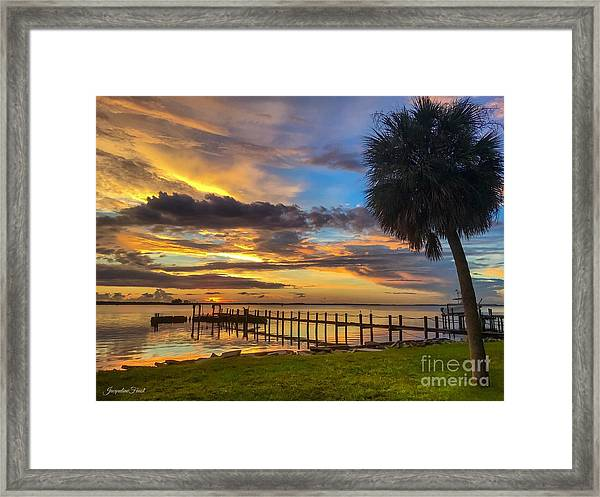 Dunedin Afterglow Framed Print