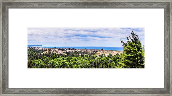 Dunes Along Lake Michigan Framed Print
