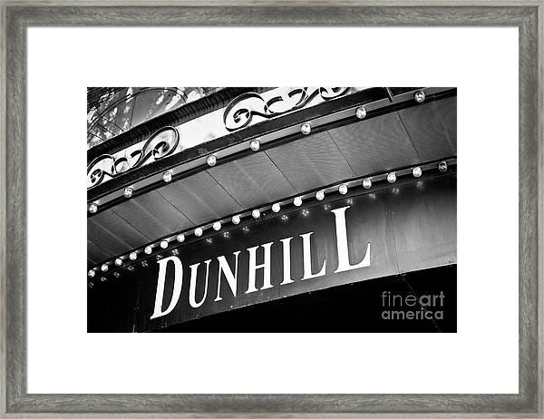 Dunhill Bw Framed Print