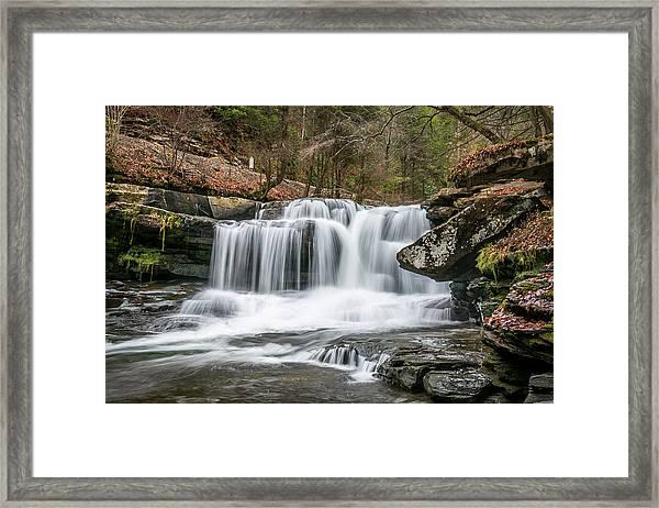 Dunloup Creek Falls Framed Print