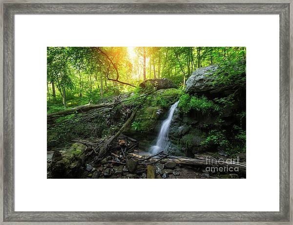 Dunnfield Creek Sunrise  Framed Print
