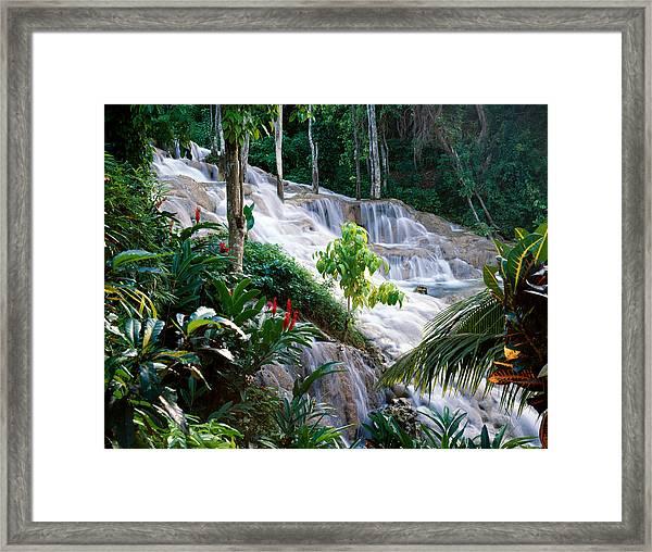 Dunn's River Falls Jamaica Framed Print