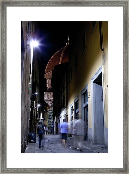 Framed Print featuring the photograph Duomo In The Dark by Matthew Wolf
