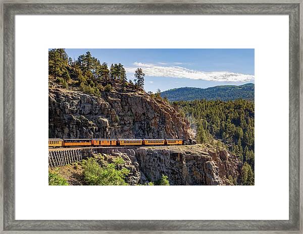 Durango-silverton Dsng Narrow Gauge Railroad Train - Colorado Framed Print